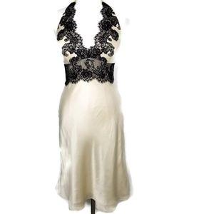 WHBM Silk Lace Halter Dress
